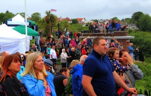 BF2013 - Crowds enjoying the air display on Armed Forces Day (Gemma Cooper)