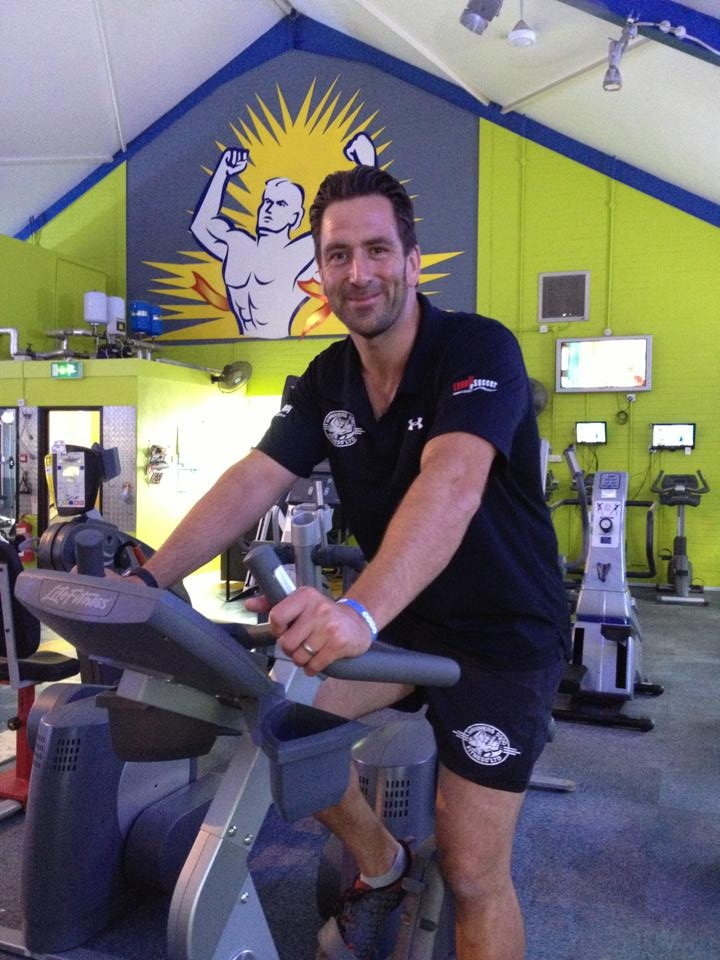 Glen Bevan training for his challenge